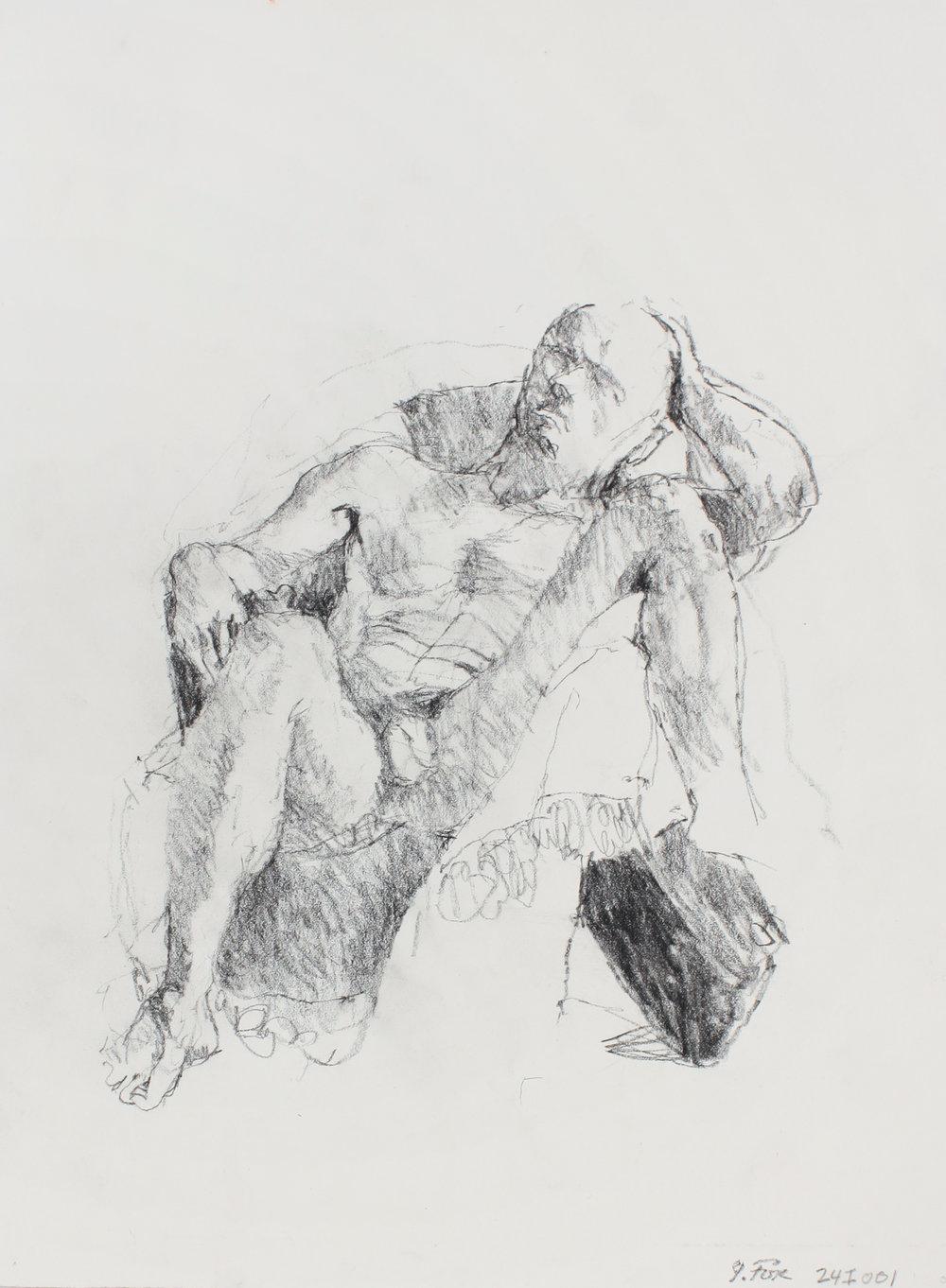 Male Nude with Leg Over Chair