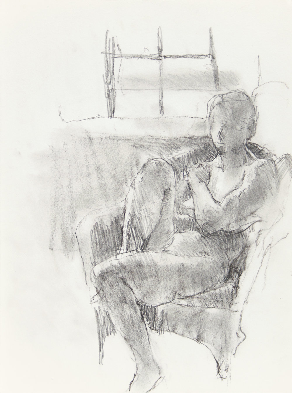 Nude in Armchair with Window