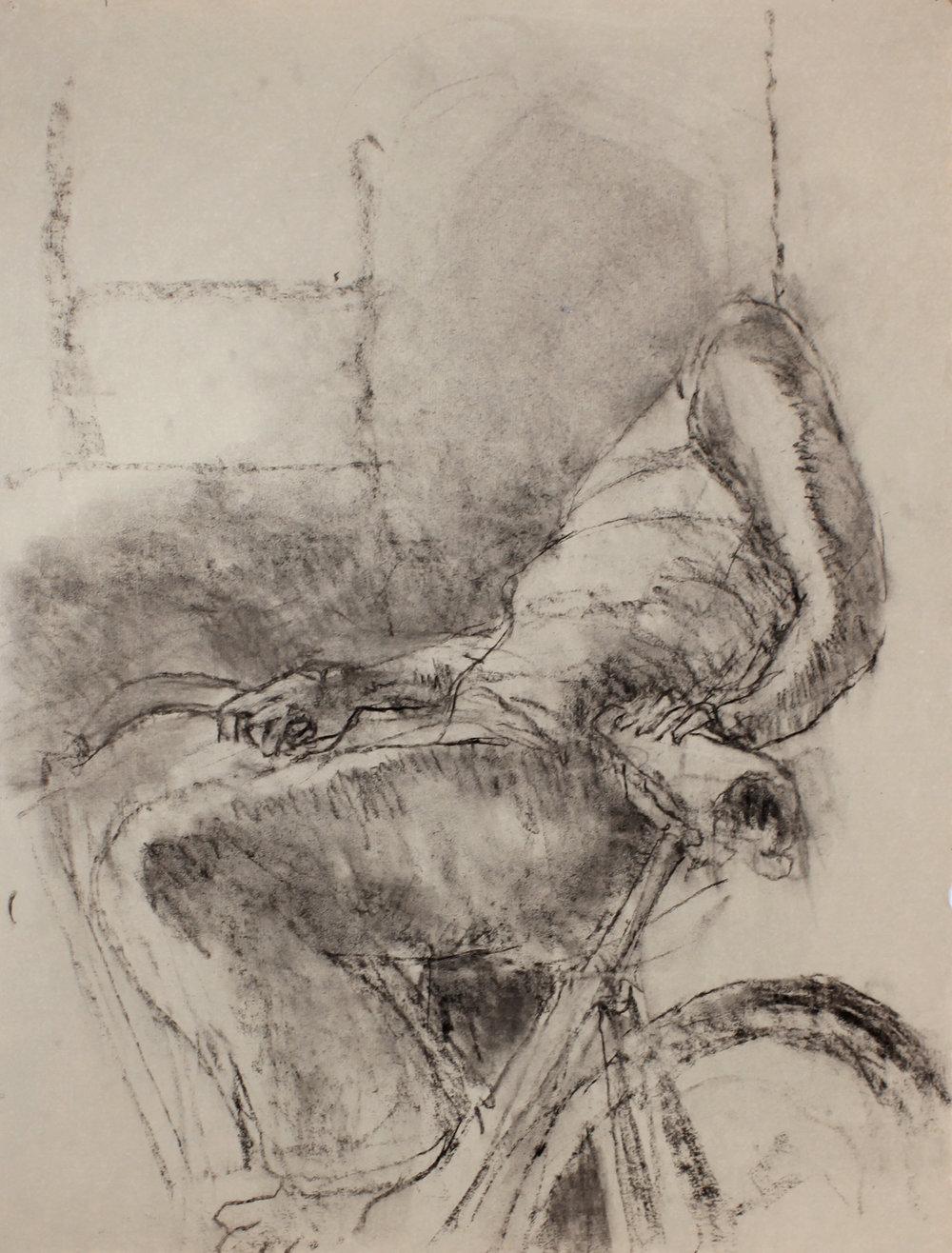 Figure on Bicycle