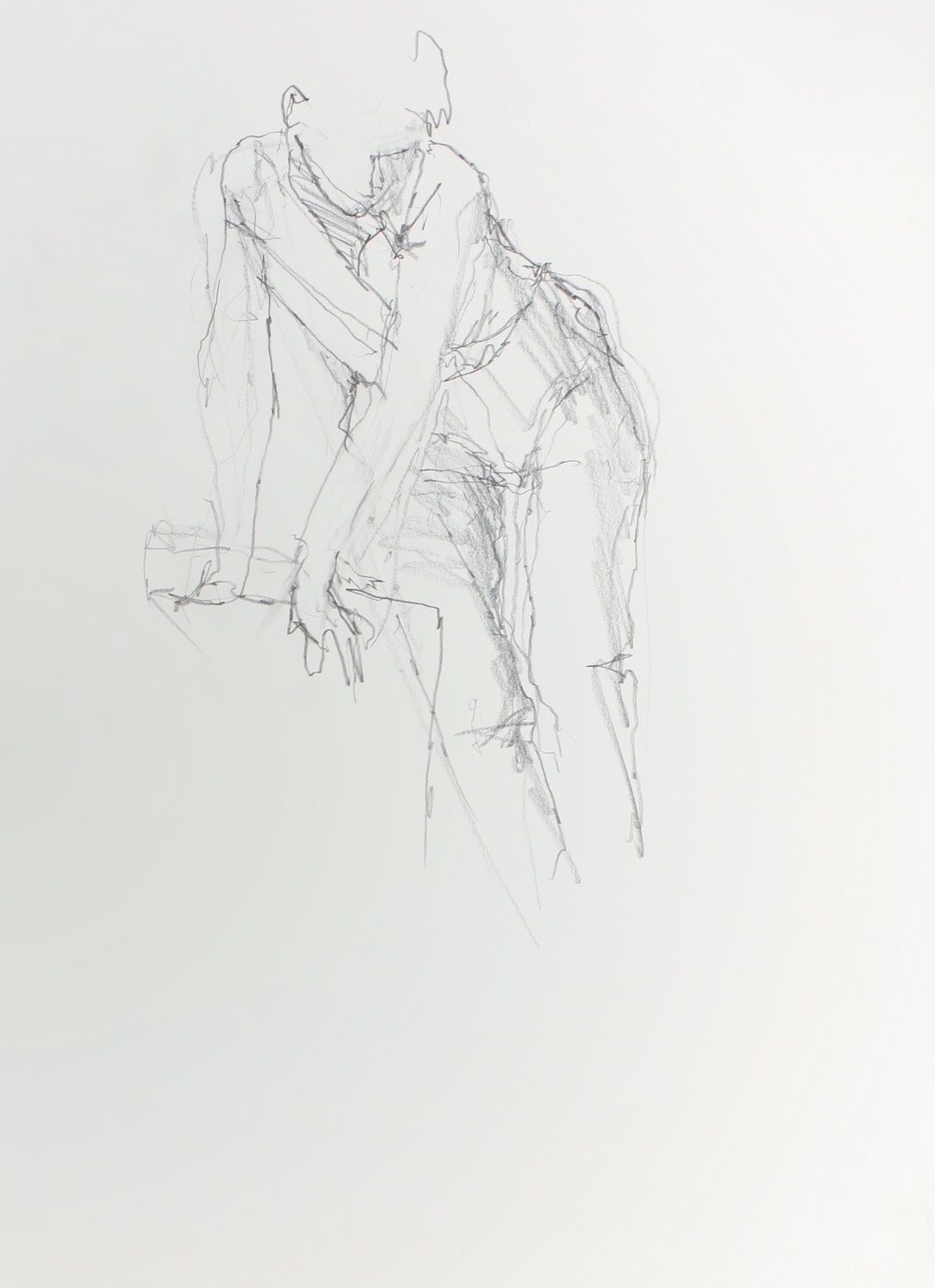 Figure Leaning on Chair