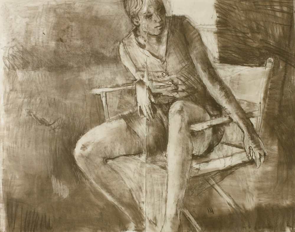 Seated Girl Sophie in Studio