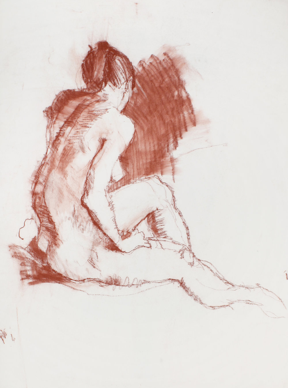 Seated Nude Turned the Wall
