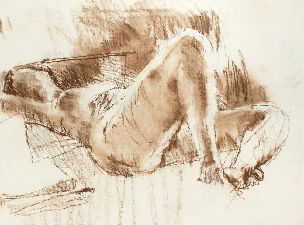 Nude Lying on Sofa