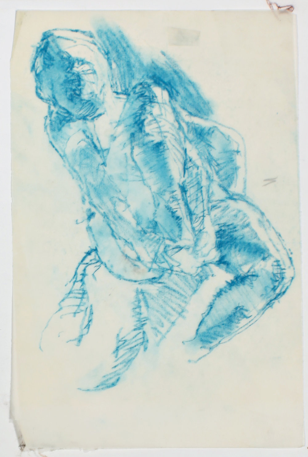 1980s_Blue_Nude_Adjusting_Shoe_pastel_on_tracing_paper_11x7in_WPF583.jpg