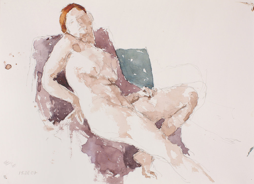 Seated Nude with Turned Head