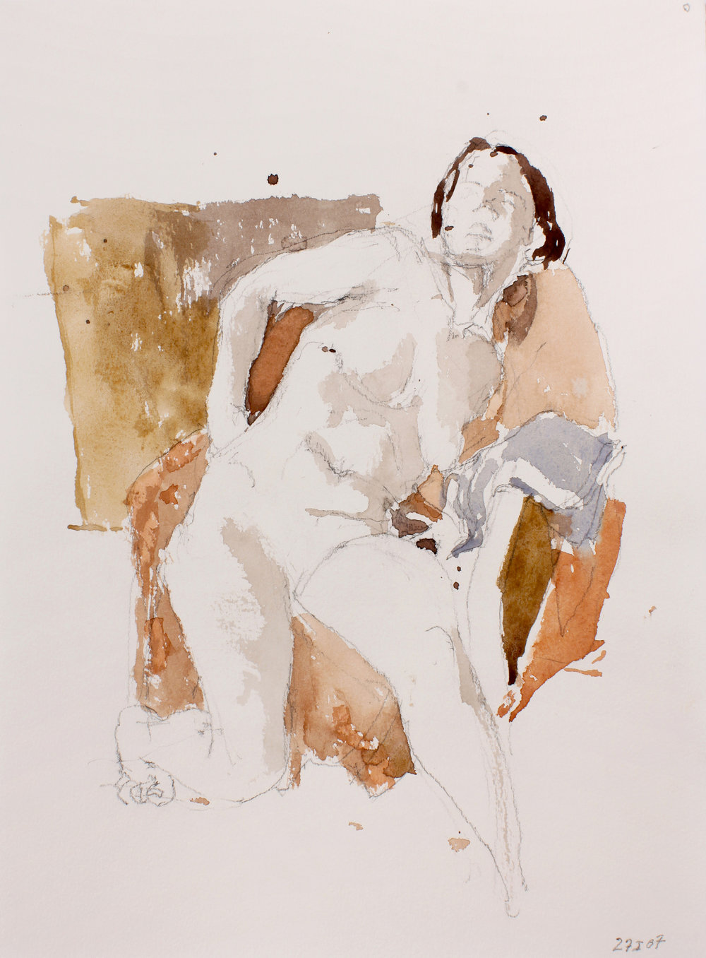Seated Nude with Hand on Hip