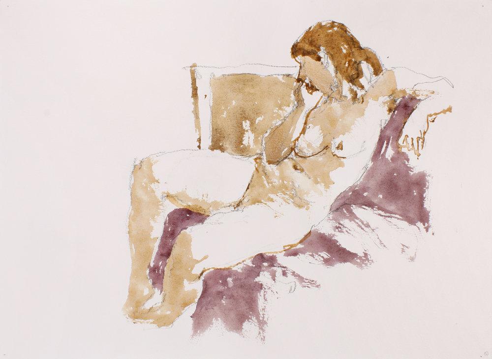 Seated Nude on Mauve Cloth
