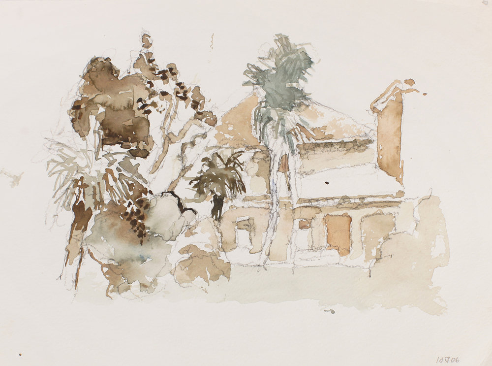 2006_House_with_Trees_Venice_watercolour_on_paper_11x15in_38x28cm_WPF257.jpg