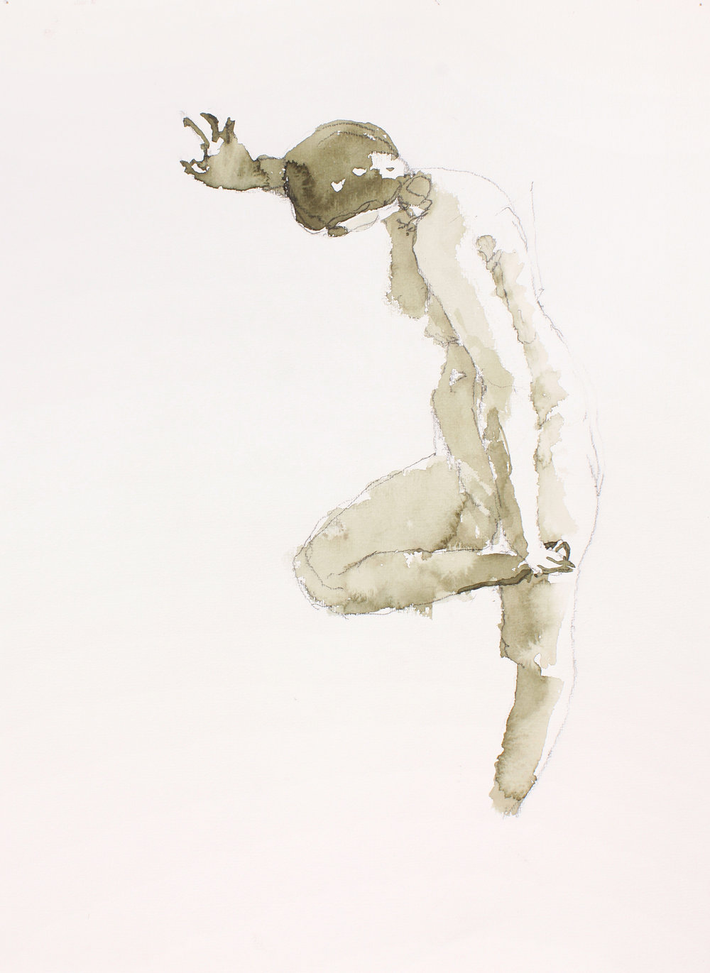 Standing Nude Holding Bent Leg