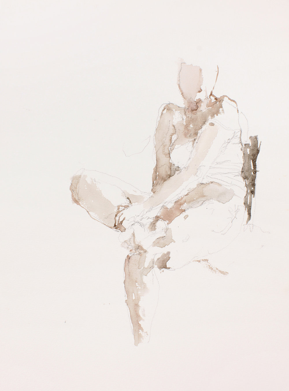 Seated Nude Holding Ankle