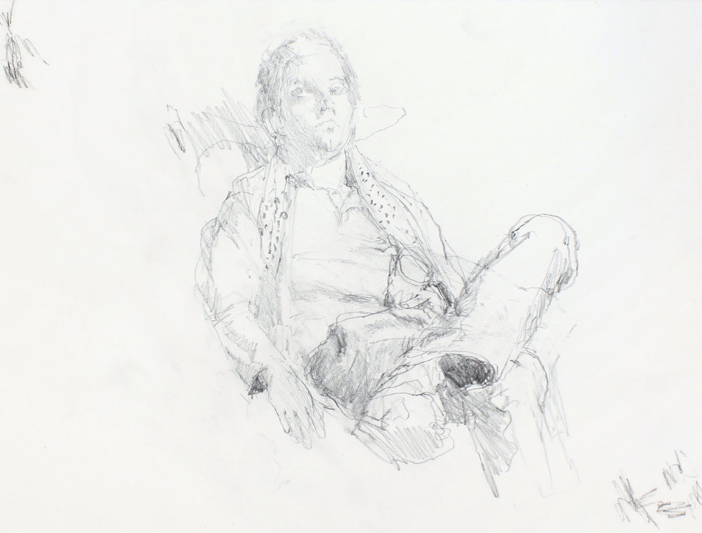 Study of Anthony (Seated Man)