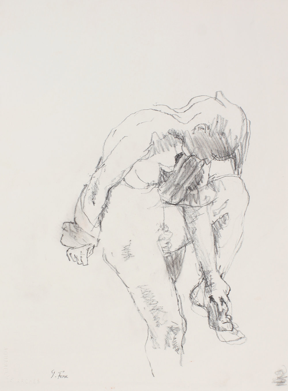 2000s_Standing_Nude_Clasping_Right_Foot_conte_on_paper_15x11in_WPF503.jpg