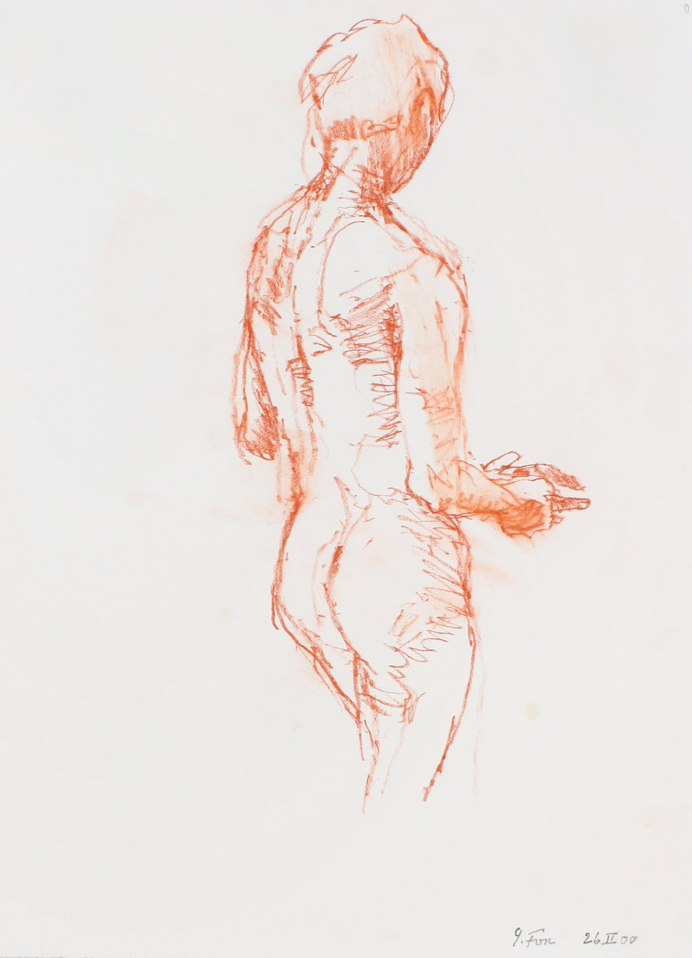 Standing Nude with Extended Hands