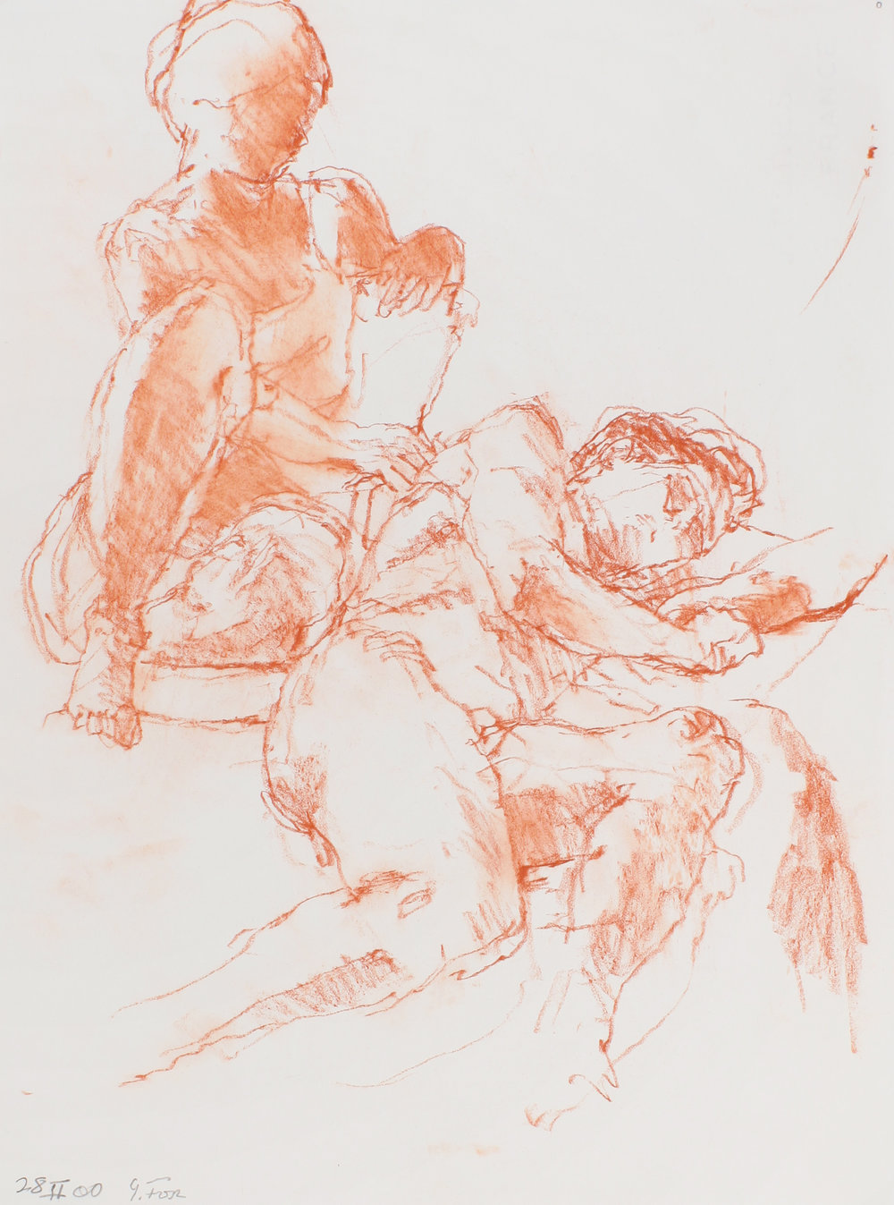 2000_Seated_Female_and_Reclining_Male_Figures_red_conté_on_paper_15x11in_WPF545.jpg