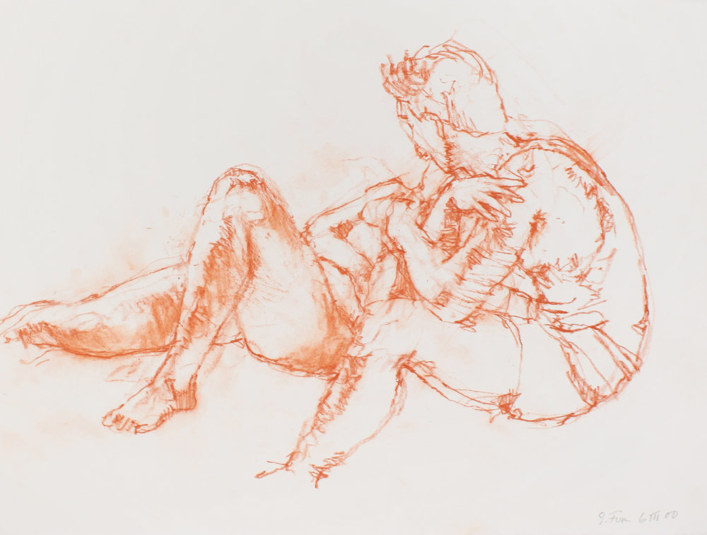 Reclining Female and Seated Male