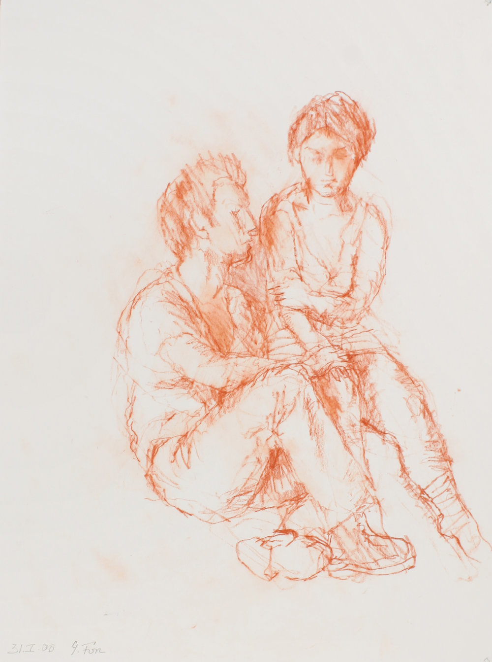 Male and Female Seated Figures