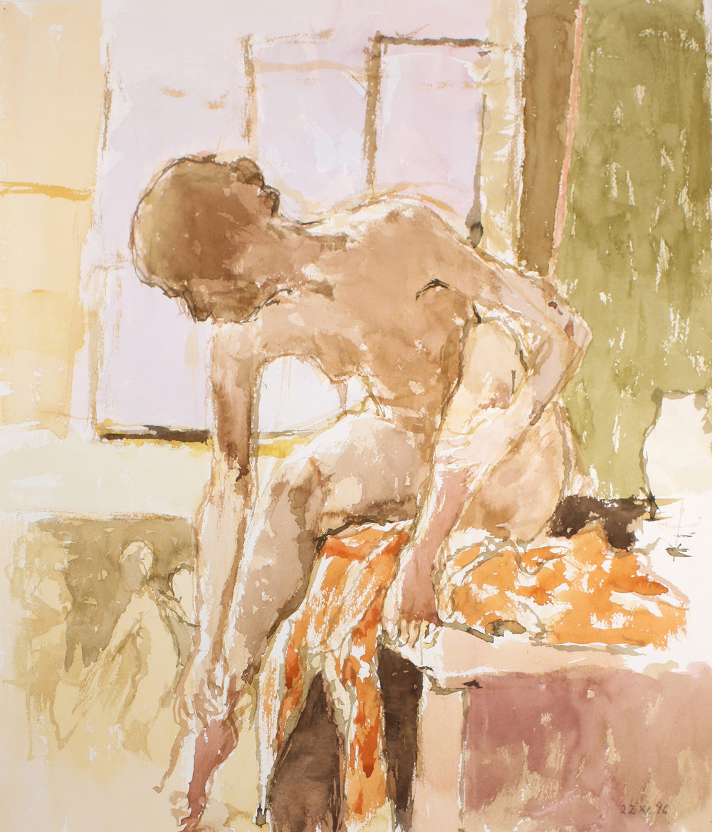 1996_Nude_in_Studio_at_a_Table_watercolour_on_paper_23x20in_WPF148.jpg