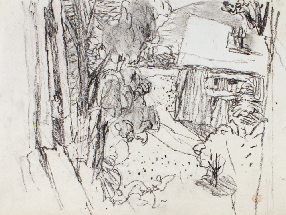 1992_Farm_Building_in_Maine_charcoal_on_Paper_9x12in_WPF057.jpg