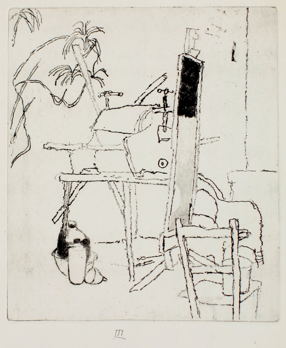 Studio with Etching Press