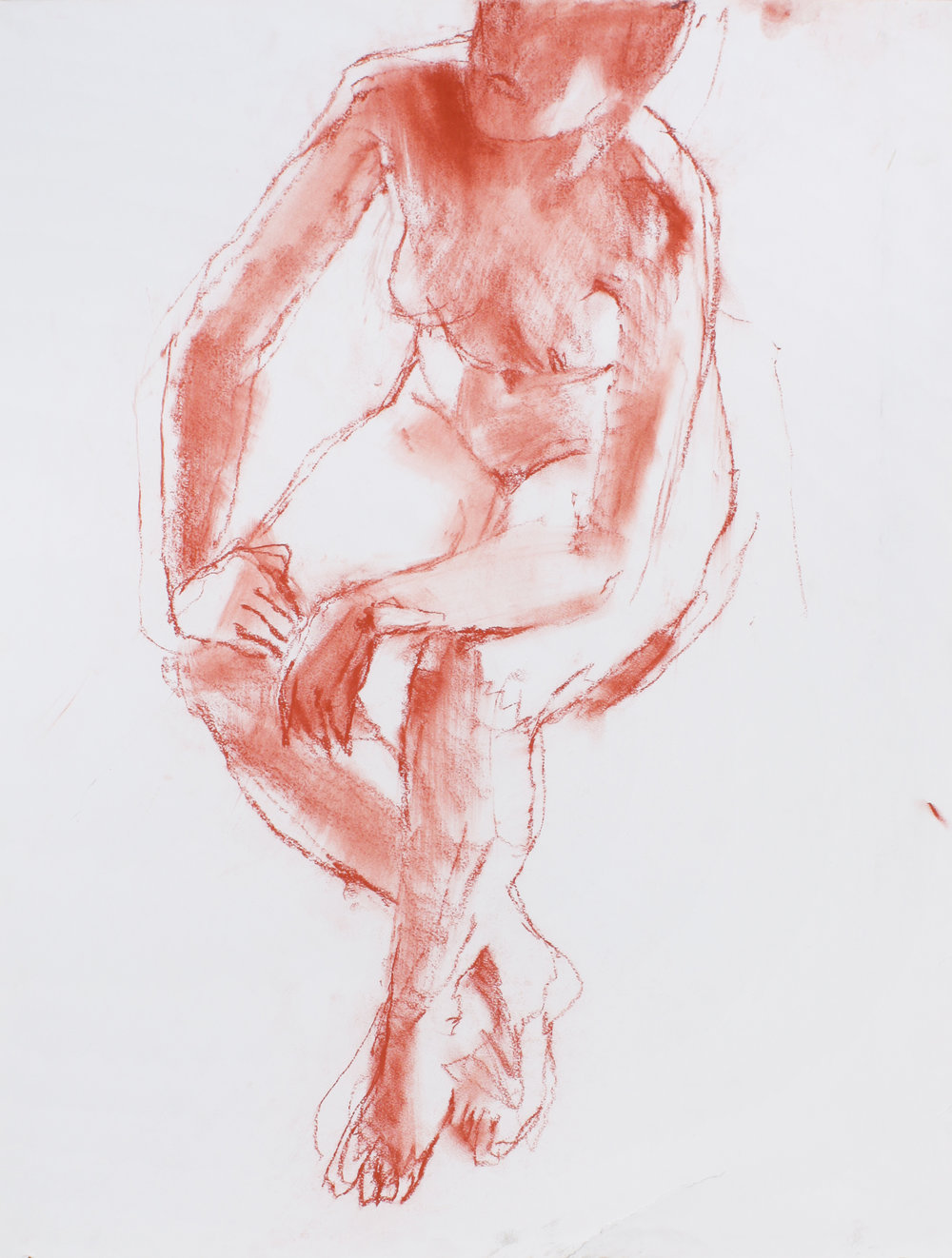 Seated Nude with Legs Crossed Near Ankles