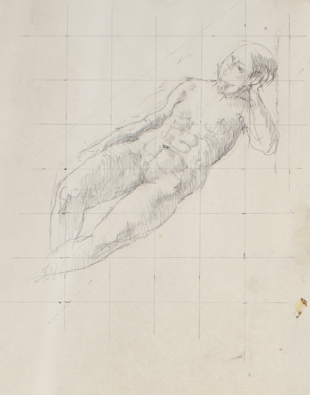 Reclining Nude on Squared Paper