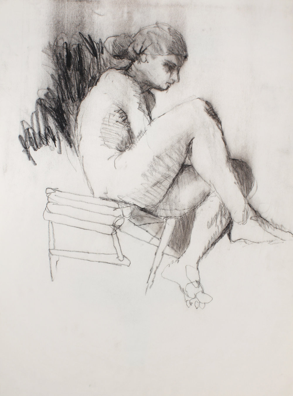 Nude on Chair in Profile