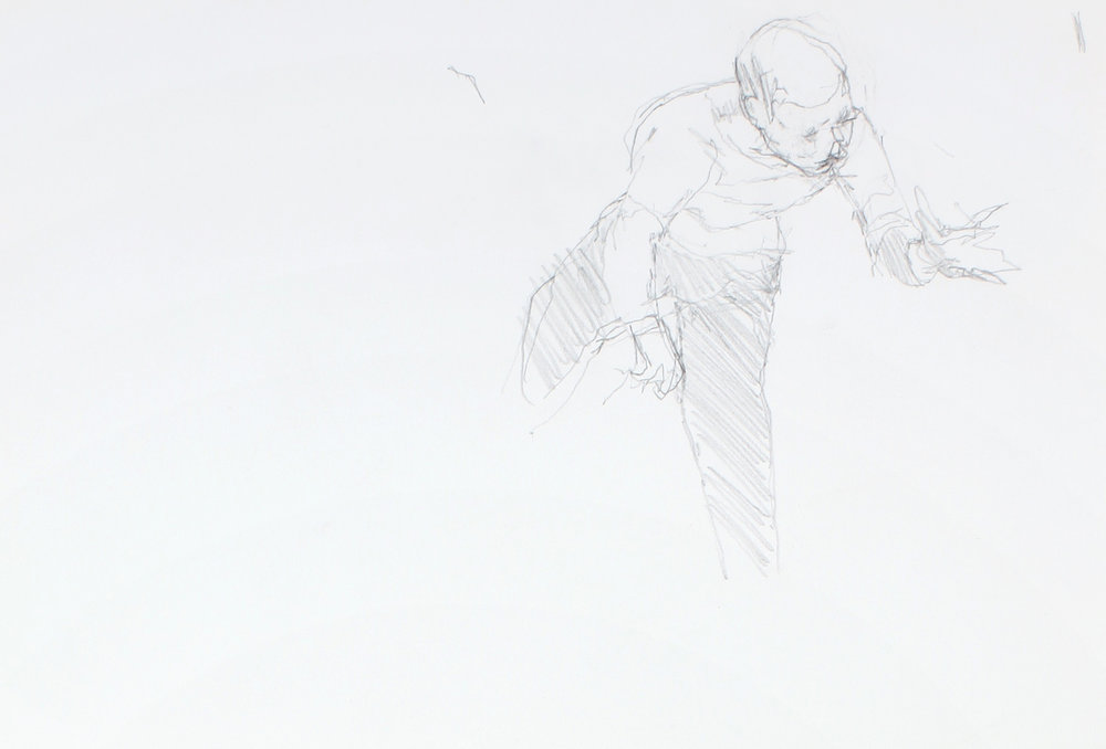 Study of Man on Bicycle