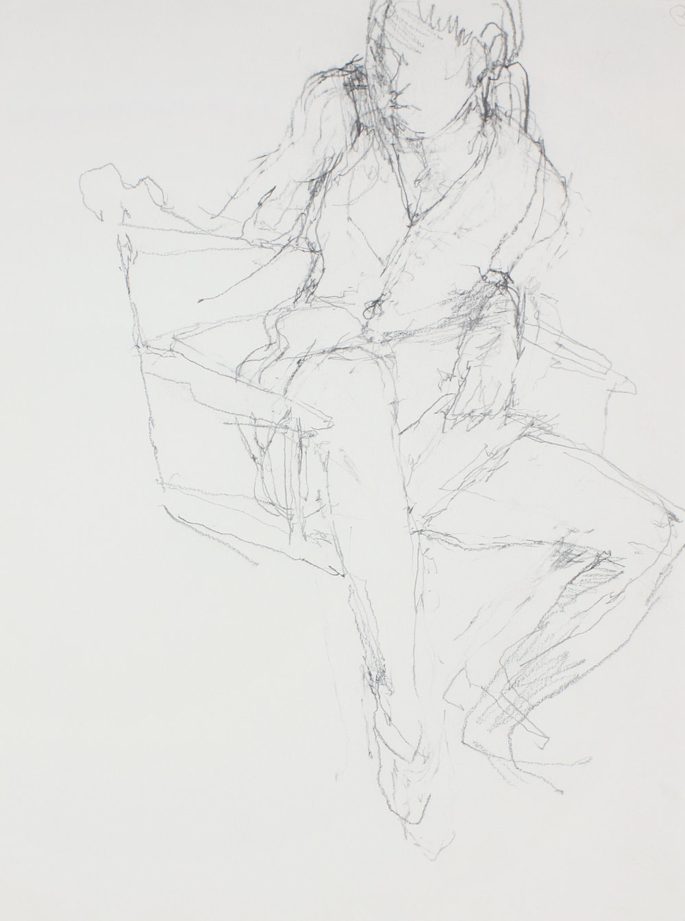 Study for Seated Girl (Sophie In Twisted Pose)