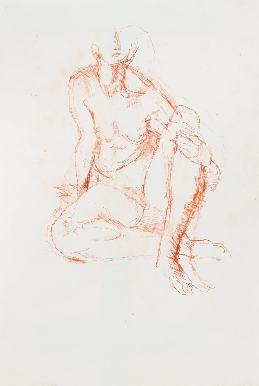 Seated Nude with Crossed Legs and Hand on Knee