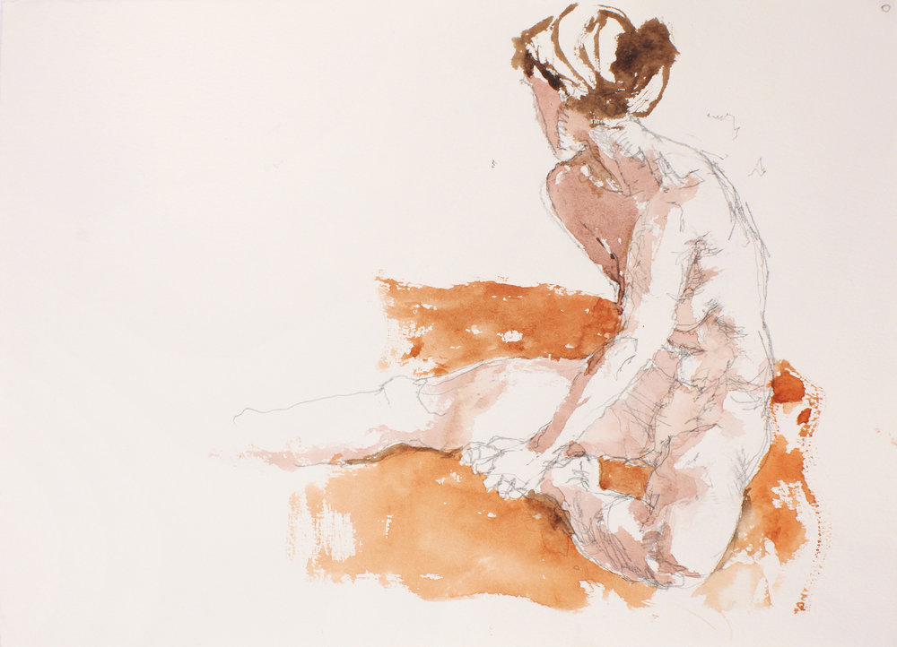 Seated Nude with Scarf