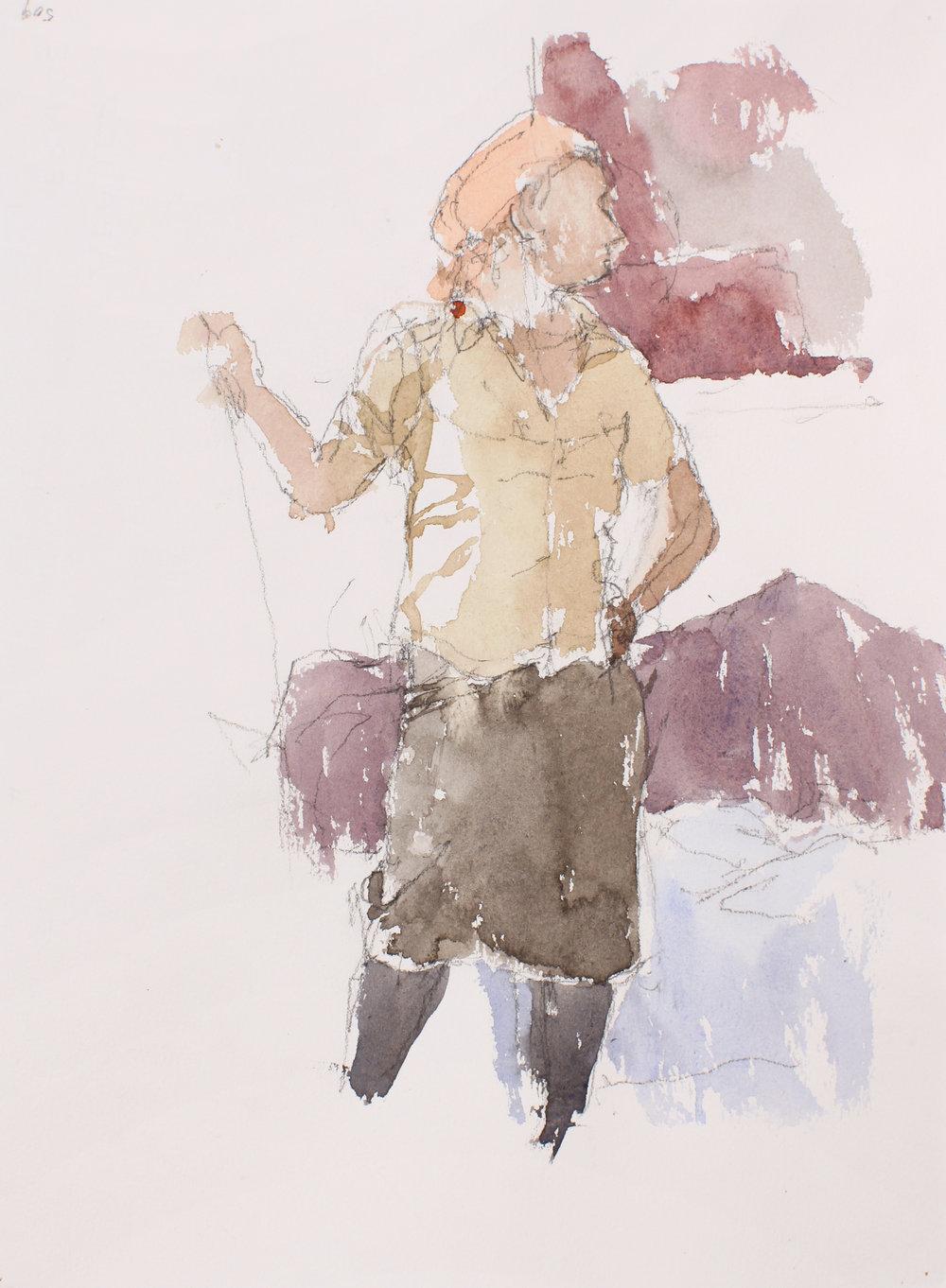 Woman Standing in Studio