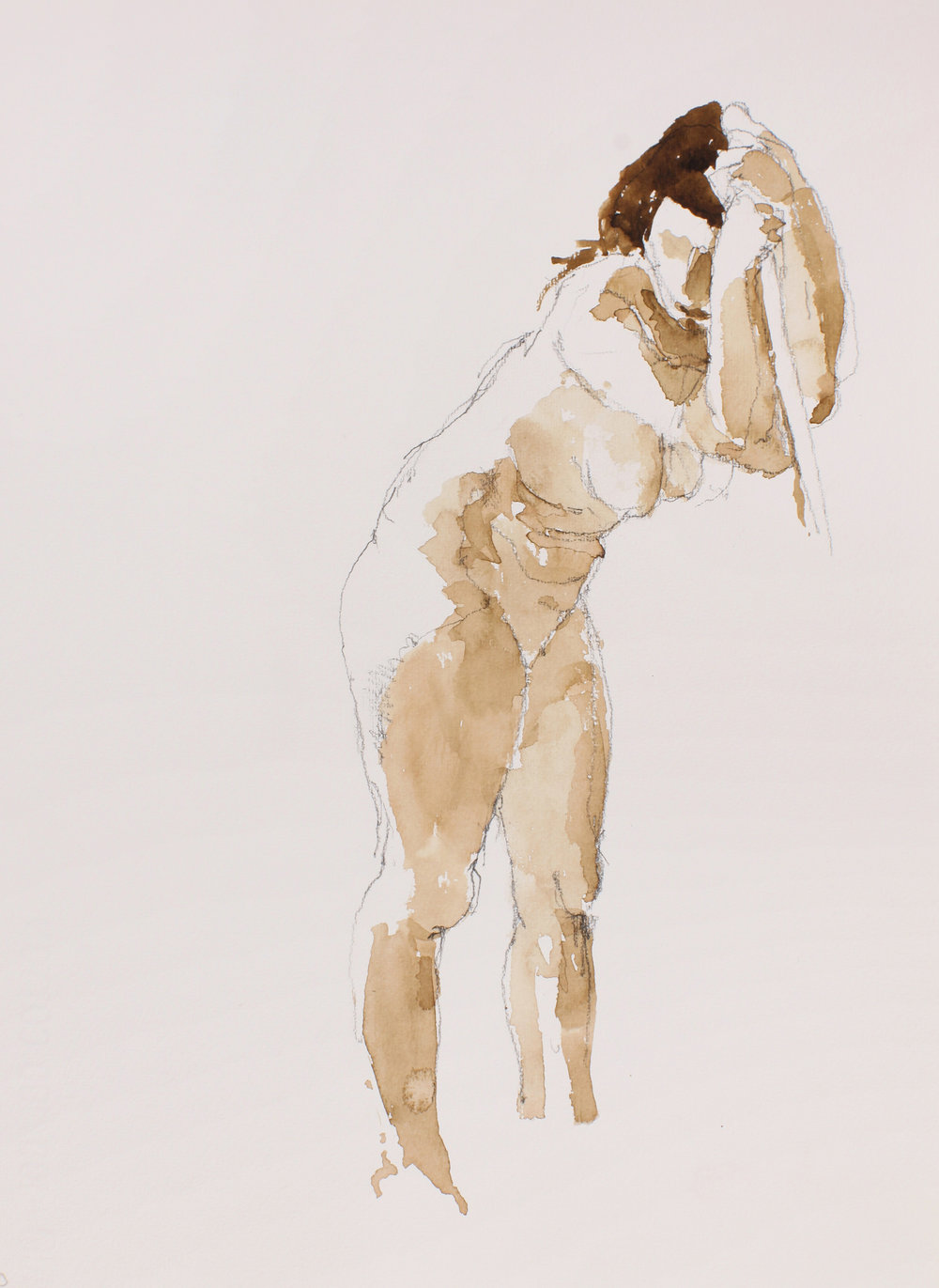 2006_Standing_Nude_with_Raised_Arms_Holding_Pole_watercolour_and_pencil_on_paper_15x11in_WPF488.jpg