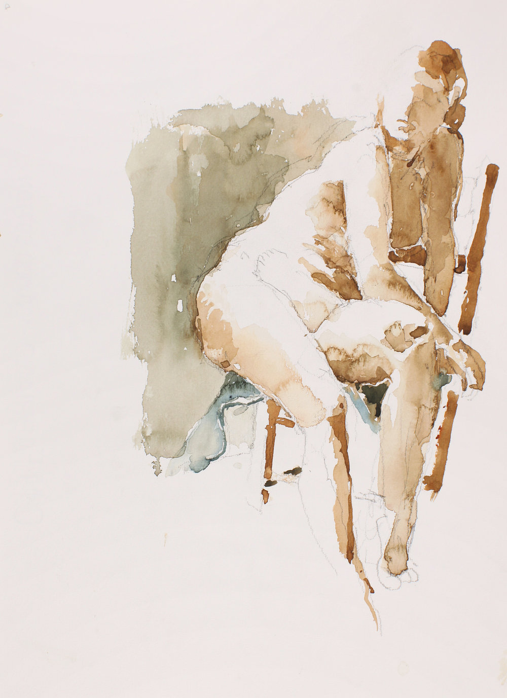 Nude Seated Sideways on Chair