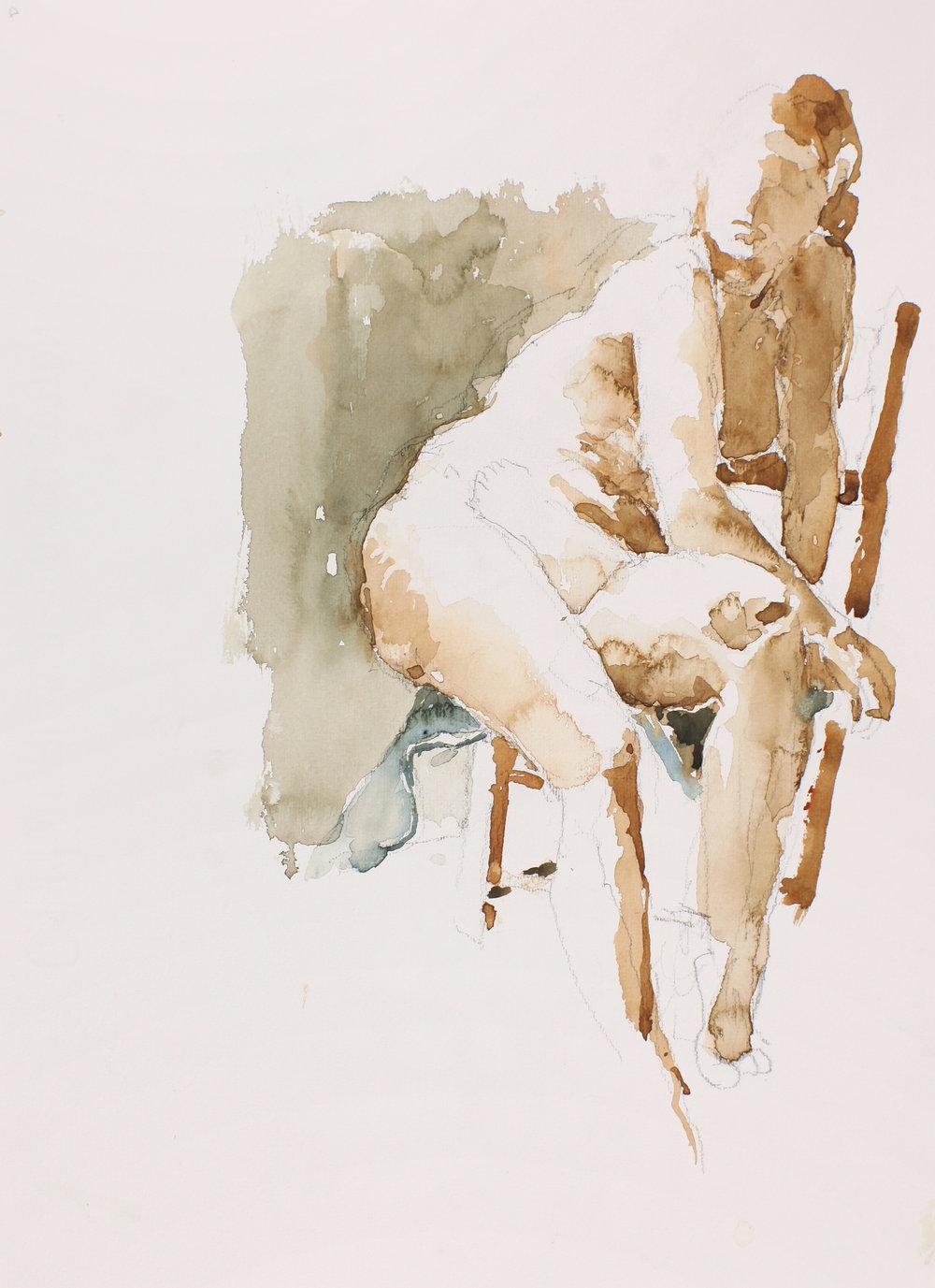 Nude Seated Sideways on Chair