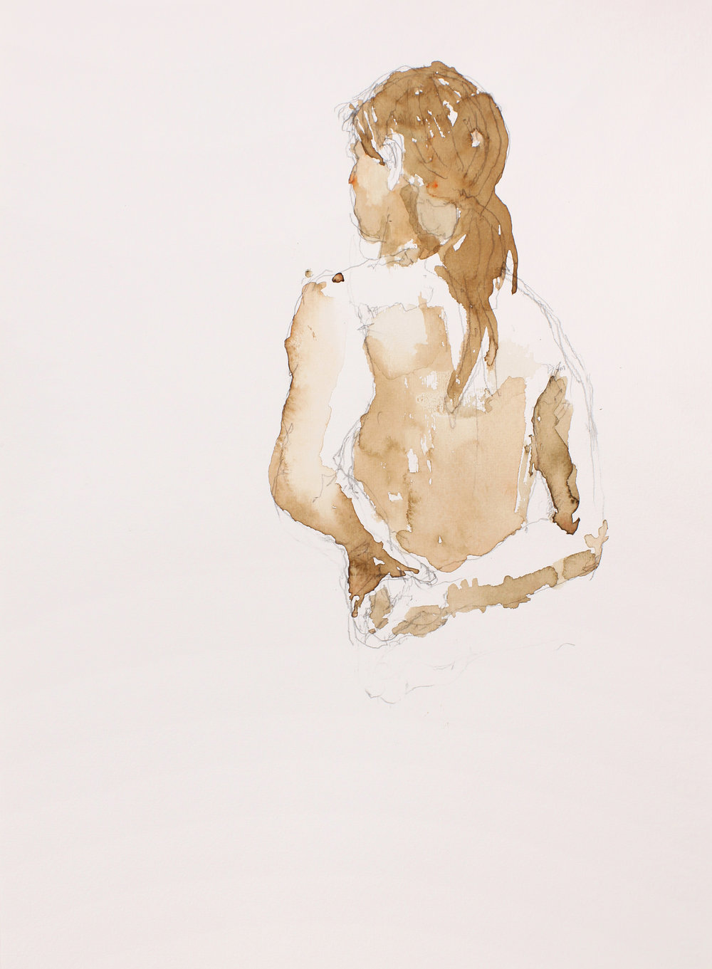 2006_Half_Length_Nude_with_Ponytail_From_Back_watercolour_and_pencil_on_paper_15x11inWPF444.jpg