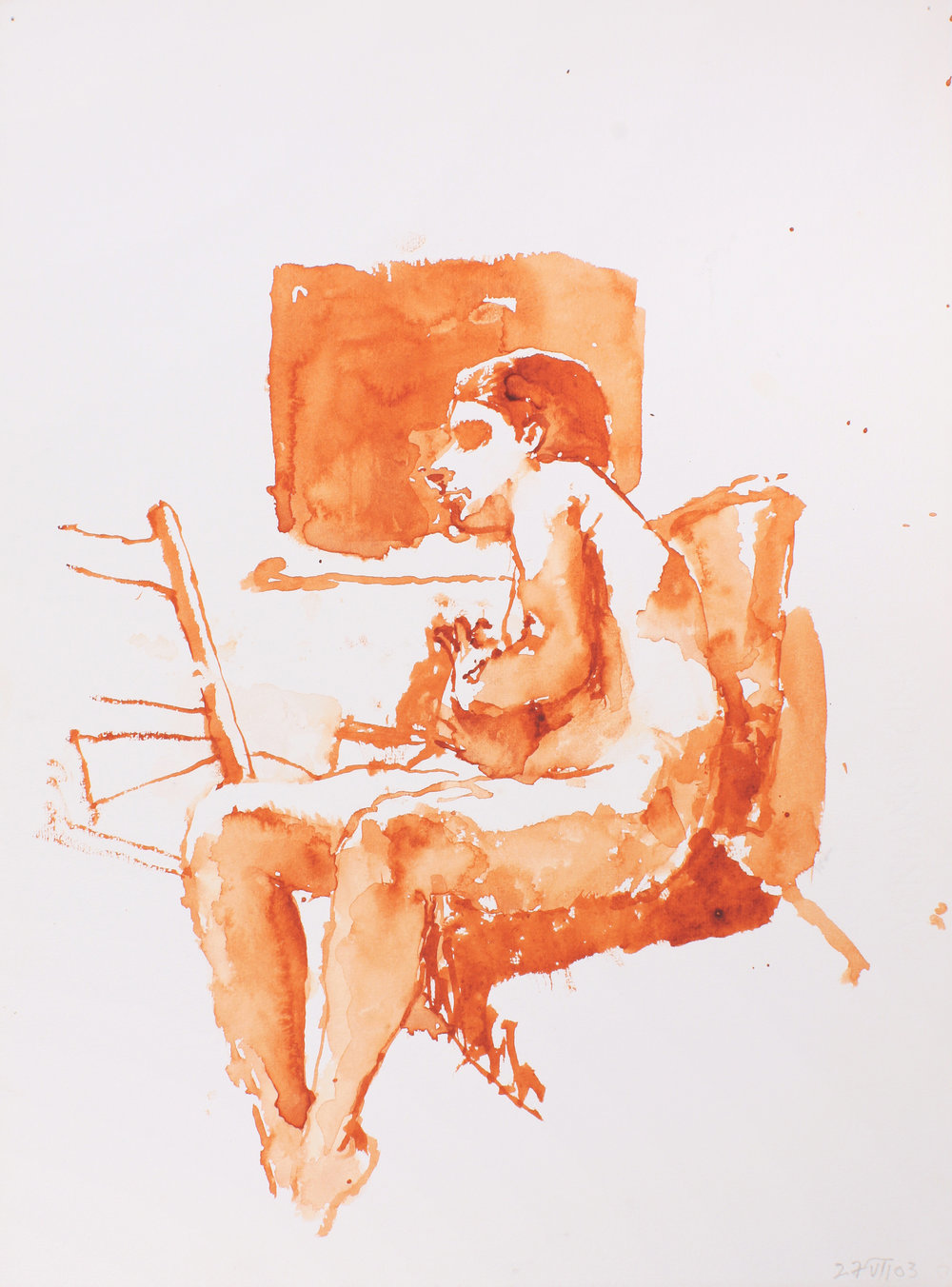 Seated Nude with Little Chair