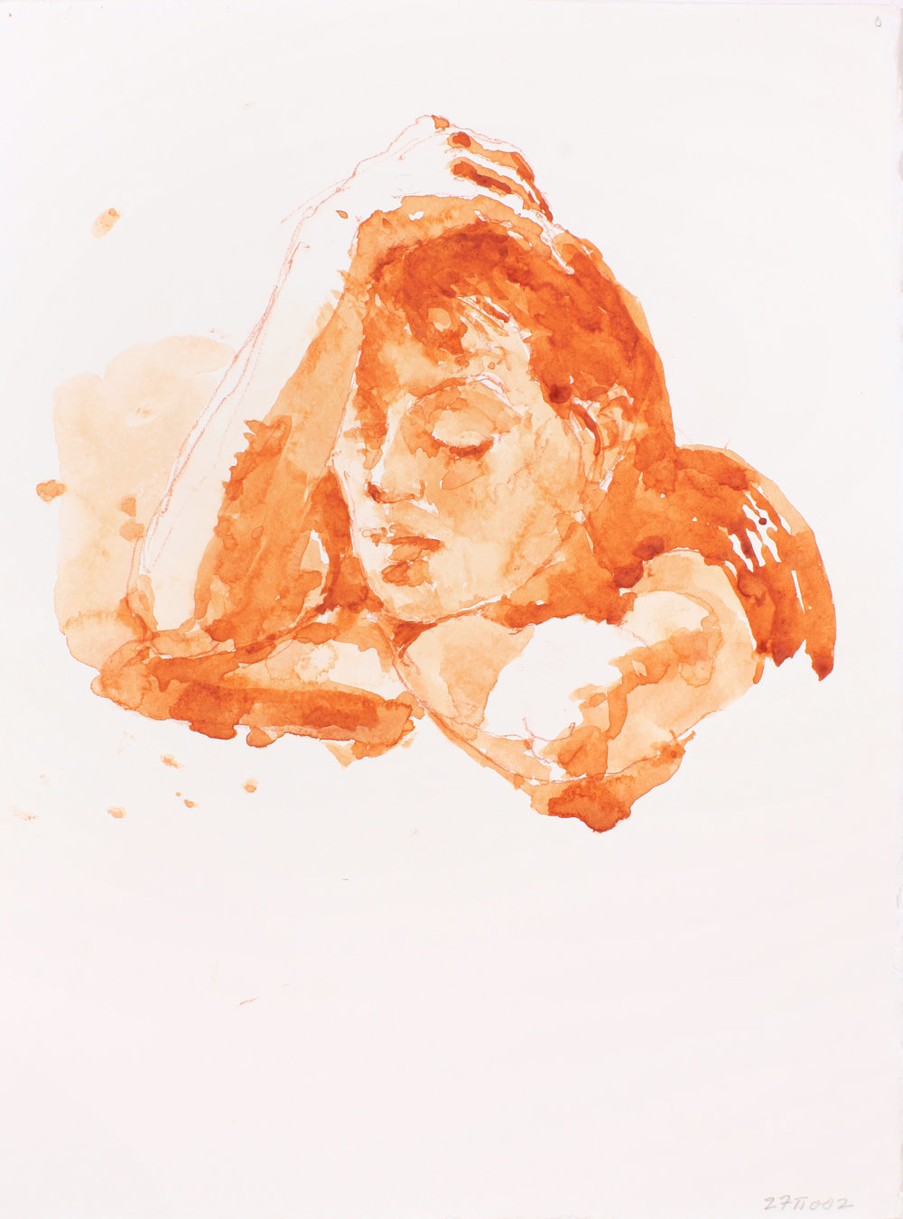 2002_Head_of_Woman_with_Raised_Arm_watercolour_and_red_conté_on_paper_15x11in_WPF217.jpg