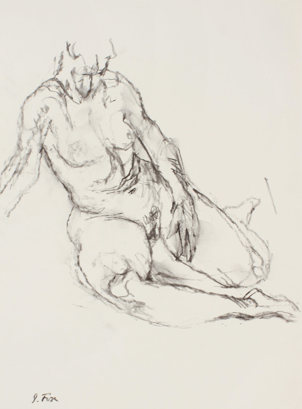 Seated Nude on Floor