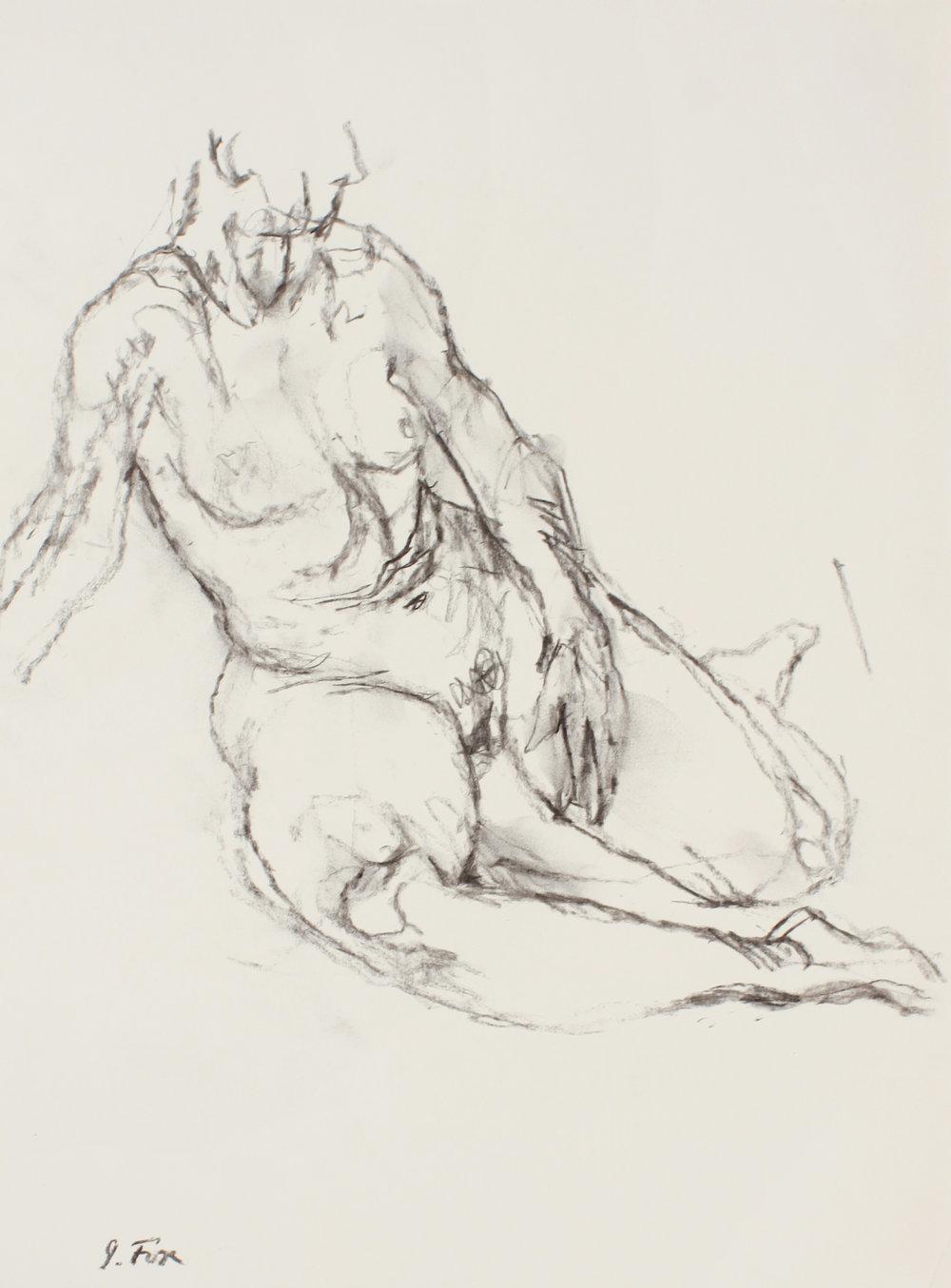 Seated Nude on Floor