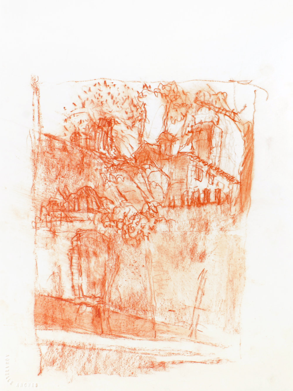 1999_Venice_Wall_and_Garden_red_conté_on_paper_15x11in_WPF067.jpg