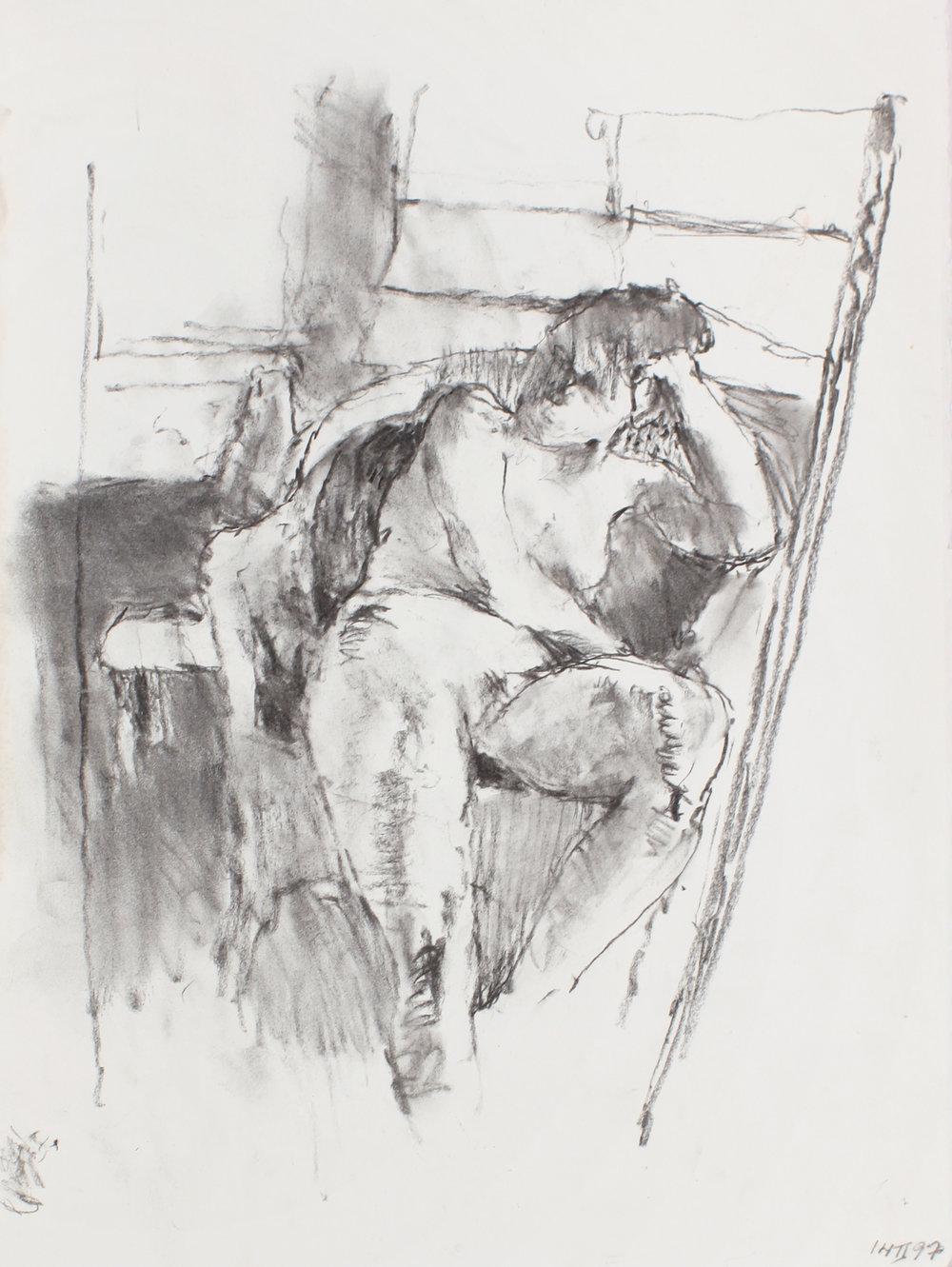 Nude in Chair (Seen through mirror)