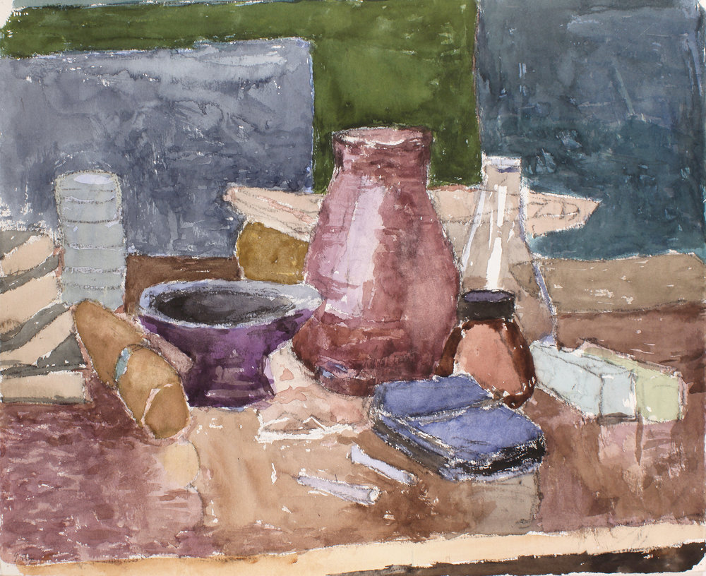 1996_Studio_Interior_with_Still_Life_watercolour_on_paper_17x23in_WPF635.jpg