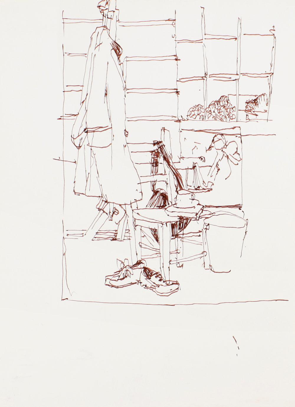Studio with Coat on Easel