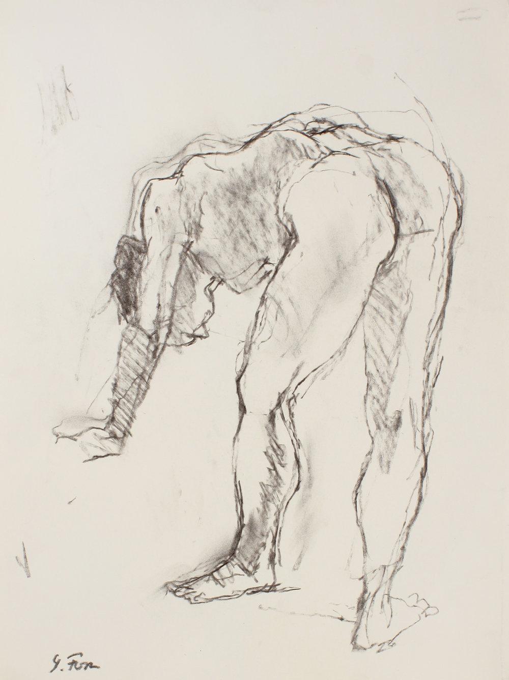 Nude Bending Forward