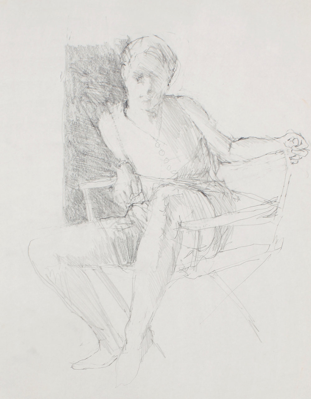 Study for Seated Girl (Sophie Facing Forwards)