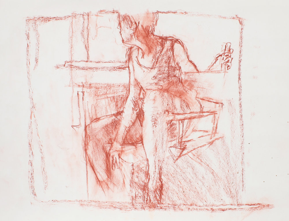 1989_Study_for_Seated_Girl_(Sophie)_red_conté_on_paper_11x15in_WPF619.jpg