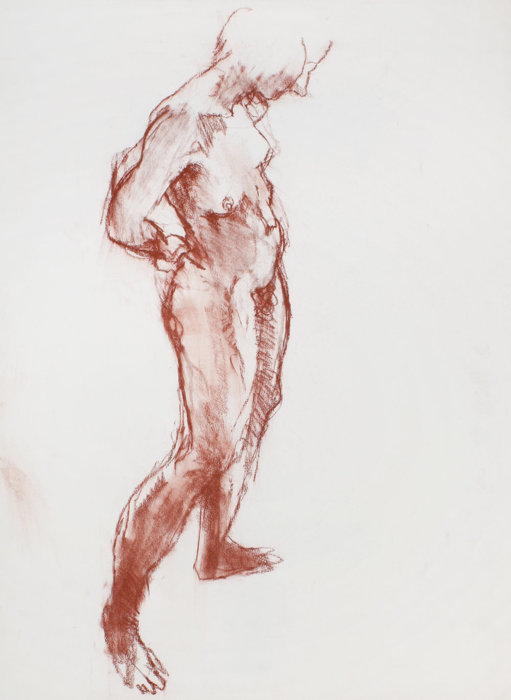 Standing Nude in Profile