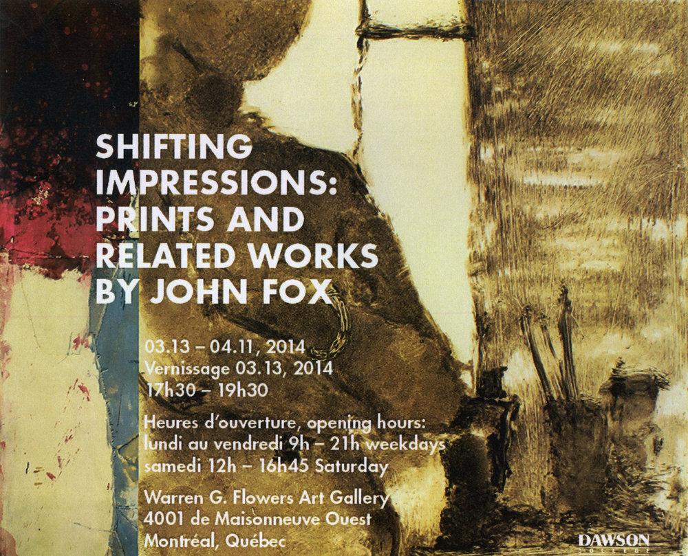 2014, Warren Flowers Gallery, Dawson College, Montreal