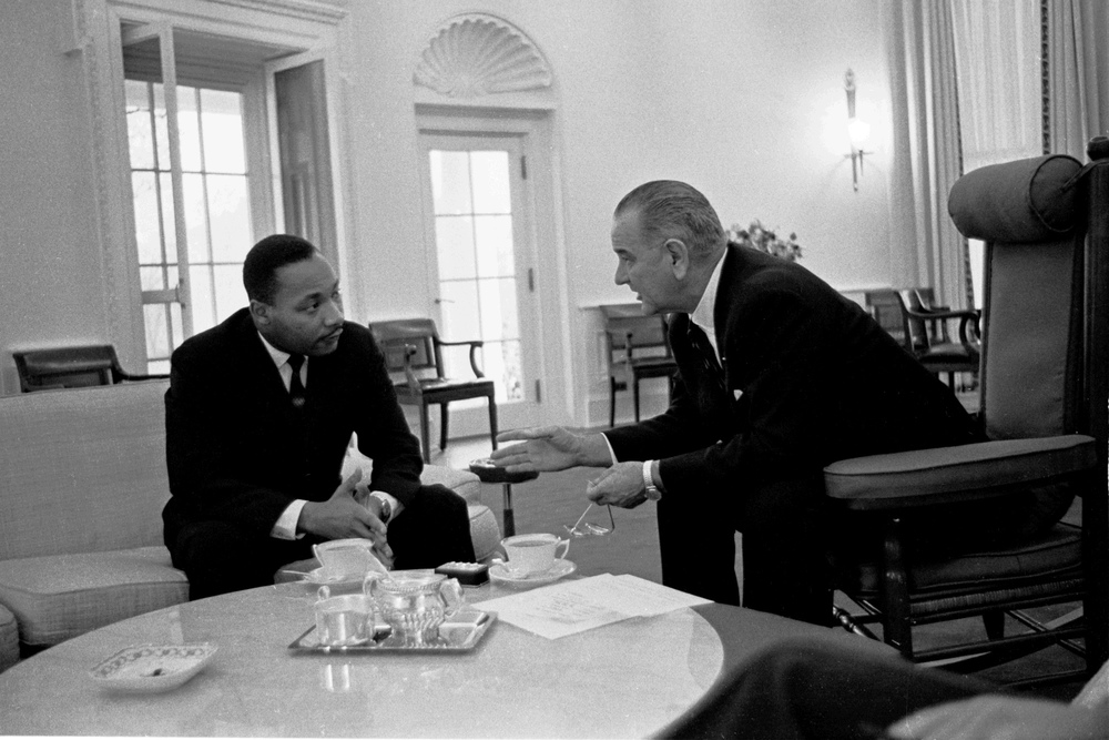 Martin Luther King with LBJ