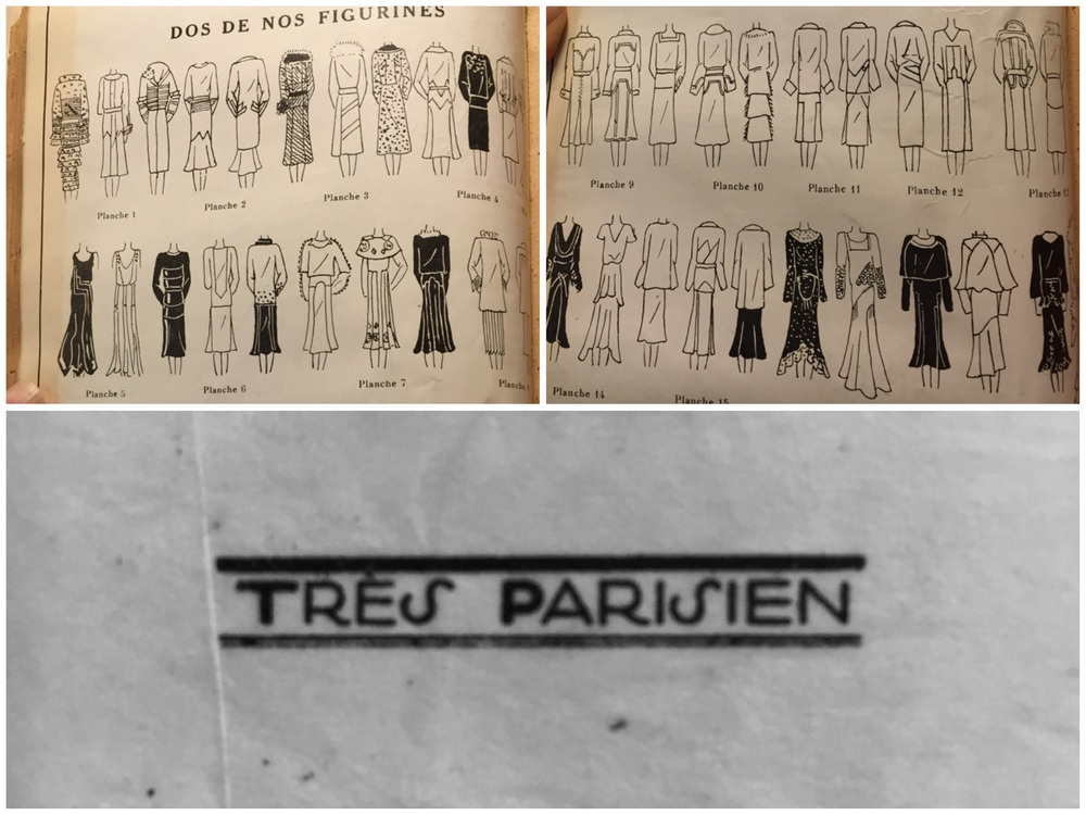 Tres Parisien periodical shows the back view detail of every dress.